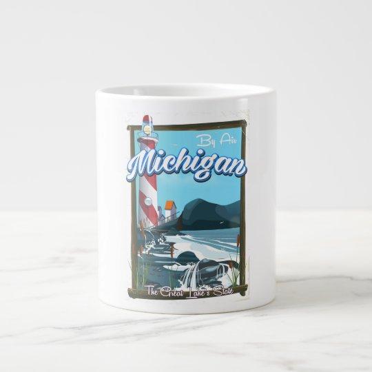 Michigan-Leuchtturmreiseplakat!. Jumbo-Mug