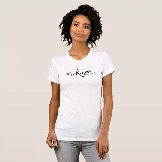 Michigan-Skript-T - Shirt