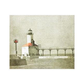 Michigan-Stadt-Leuchtturm Leinwanddrucke