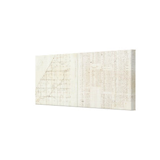Michigan-Übersicht Gespannter Galeriedruck