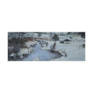Michigan-Winter Leinwanddruck