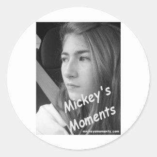 Mickey Foto-Fan-Produkte Runder Aufkleber