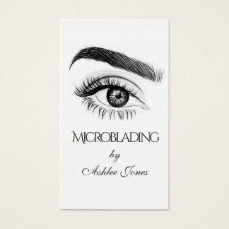 Microblading, Augenbrauen, Tätowierung, Visitenkarte
