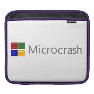 Microcrash Schirm des Todeslogos iPad Sleeve