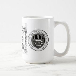 Middlesex-Krankenhaus-Tasse mit B/W Radierung u. Kaffeetasse