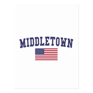 Middletown CT US Flagge Postkarte