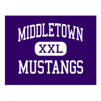 Middletown - Mustangs - hoch - Middletown Postkarte