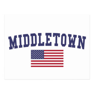 Middletown OH- US Flagge Postkarte