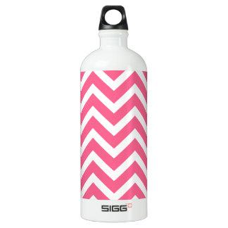 Midi-Rosa-und weißerZickzack Zickzack Wasserflasche