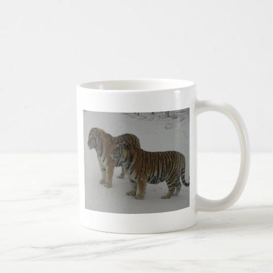 Mieten zwei sibirische Tiger Tasse