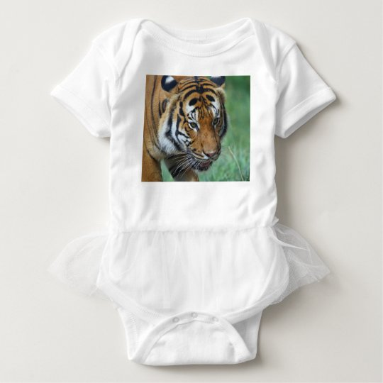 Mietmalaysische Tiger-Nahaufnahme Baby Strampler