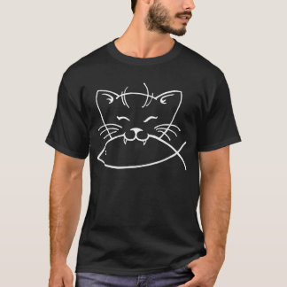 Miezekatze isst Fische T-Shirt