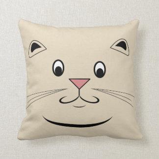 Miezekatze-Katzen-Gesicht Zierkissen