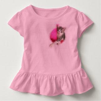 Miezekatze-Mädchen Kleinkind T-shirt