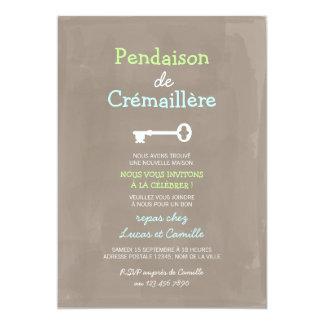Mignon Pendaison de Crémaillère Carton D'invitation 12,7 Cm X 17,78 Cm