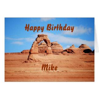 Mike-alles Gute zum Geburtstag, empfindlicher Karte
