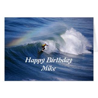 Mike-alles Gute zum GeburtstagSurfer mit Karte