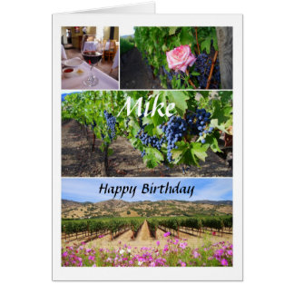Mike-alles- Gute zum Karte