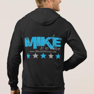 Mike bei 90% schwarzem und blauem Sleeveless Hoodie