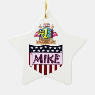 Mike der Nr.-eine Keramik Stern-Ornament