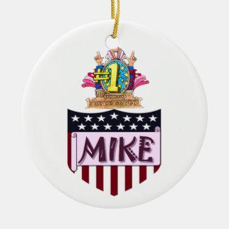 Mike der Nr.-eine Rundes Keramik Ornament
