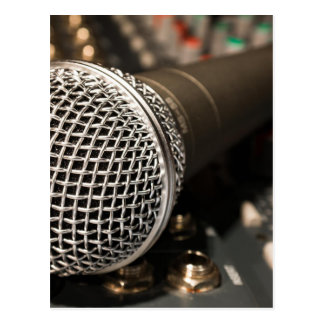 Mikrofon-Mischer-Kabel-Mikrofon-Kabel-Gesang Postkarte