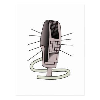 Mikrofon Postkarte