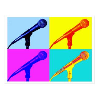 Mikrofon x 4 postkarte