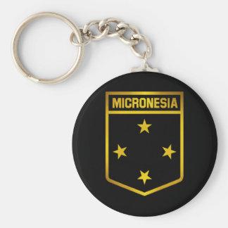 Mikronesien-Emblem Schlüsselanhänger