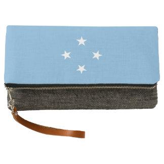 Mikronesien-Flagge Clutch