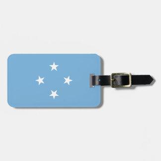 Mikronesien-Flagge Gepäckanhänger