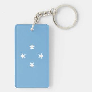 Mikronesien-Flagge Schlüsselanhänger