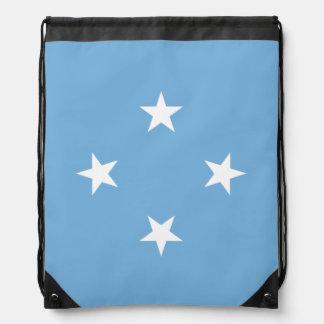 Mikronesien-Flagge Sportbeutel