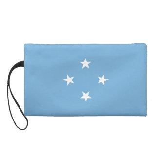 Mikronesien-Flagge Wristlet Handtasche