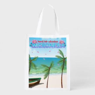 """Mikronesien """"Reise in Abenteuer """" Wiederverwendbare Einkaufstasche"""