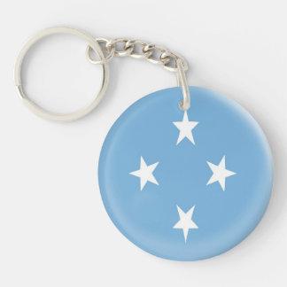 Mikronesische Flagge Schlüsselring-Mikronesiens Schlüsselanhänger