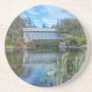 Milby überdachte Brücke 2 Getränkeuntersetzer