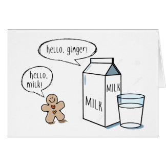 Milch-u. Ingwer-Anmerkungs-Karte Karte