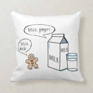 Milch-u. Ingwer-schrulliges weißes Wurfs-Kissen Kissen