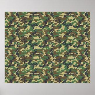 Militär tarnt Muster - Brown-Gelbgrün Poster
