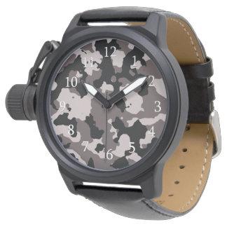 Militärbrown-Tarnungs-Muster Uhr