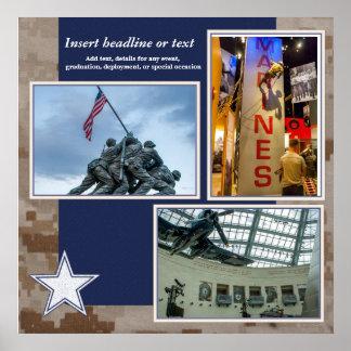 Militäreinklebebuch-Collagen-Seite Poster
