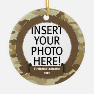 Militärheld - Camouflage EINSEITIG Keramik Ornament