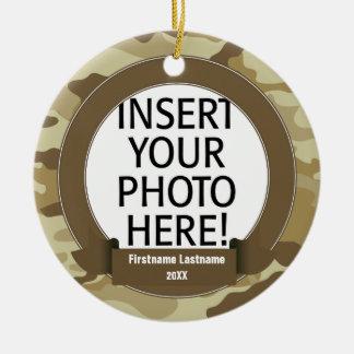 Militärheld - Camouflage EINSEITIG Rundes Keramik Ornament