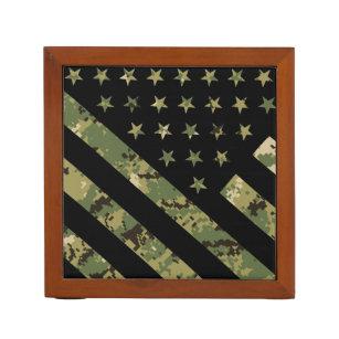 Militärische digitale Camouflage US-Flagge Stifthalter