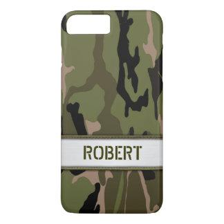 Militärische grüne Camouflage-Namen-Schablone iPhone 7 Plus Hülle