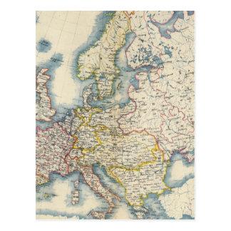 Militärische politische Karte von Europa Postkarte