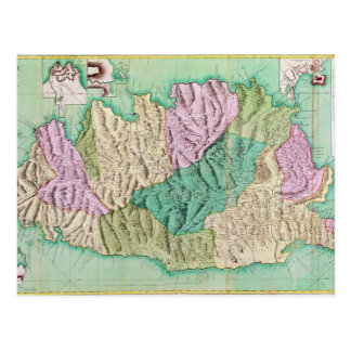 Militärkarte von Korsika, 1768 Postkarte