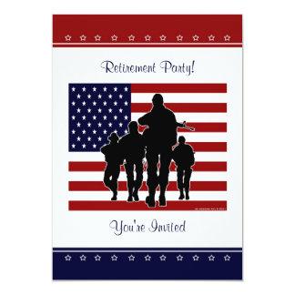 Militärruhestands-Party-personalisierte Einladung