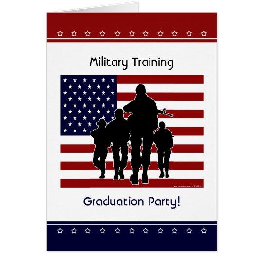 Militärtrainings-Abschluss-Party-Gewohnheit laden Karte